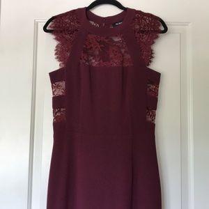 Burgundy Kooples dress / only worn twice!